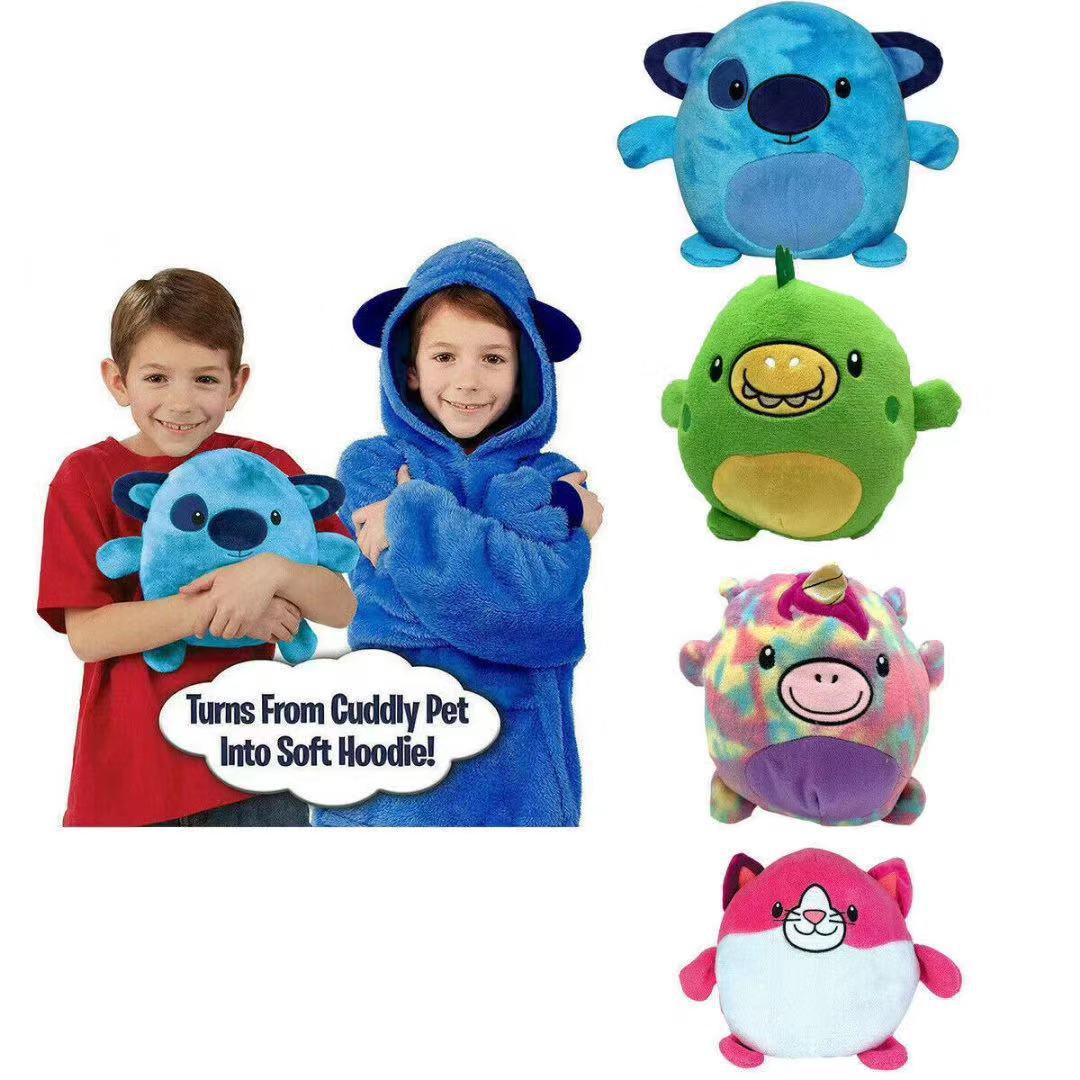 卡通懒人儿童套头衣服HUGGLE PETS儿童睡衣宠物形状睡衣 厂家直销
