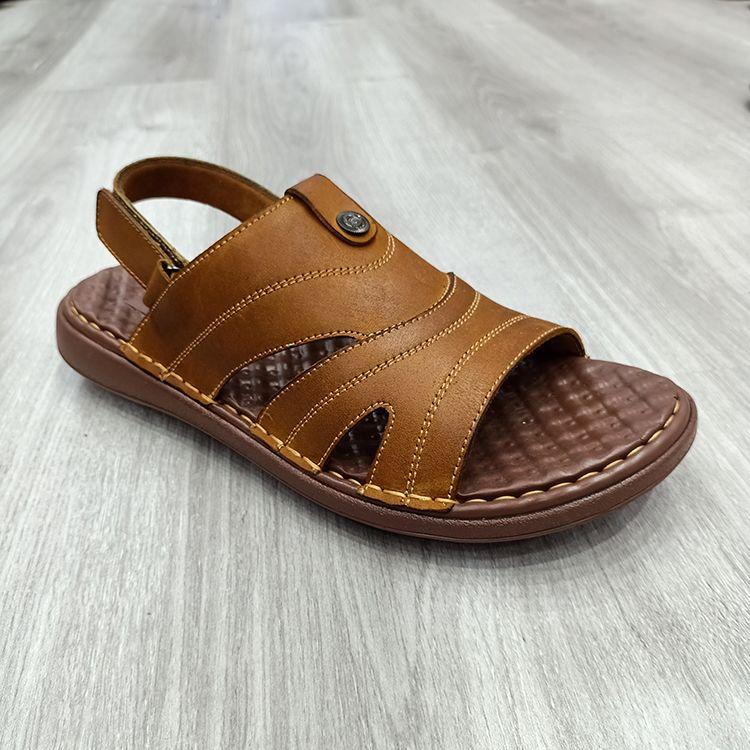 男士柔软中底真皮时尚男凉鞋men sandals