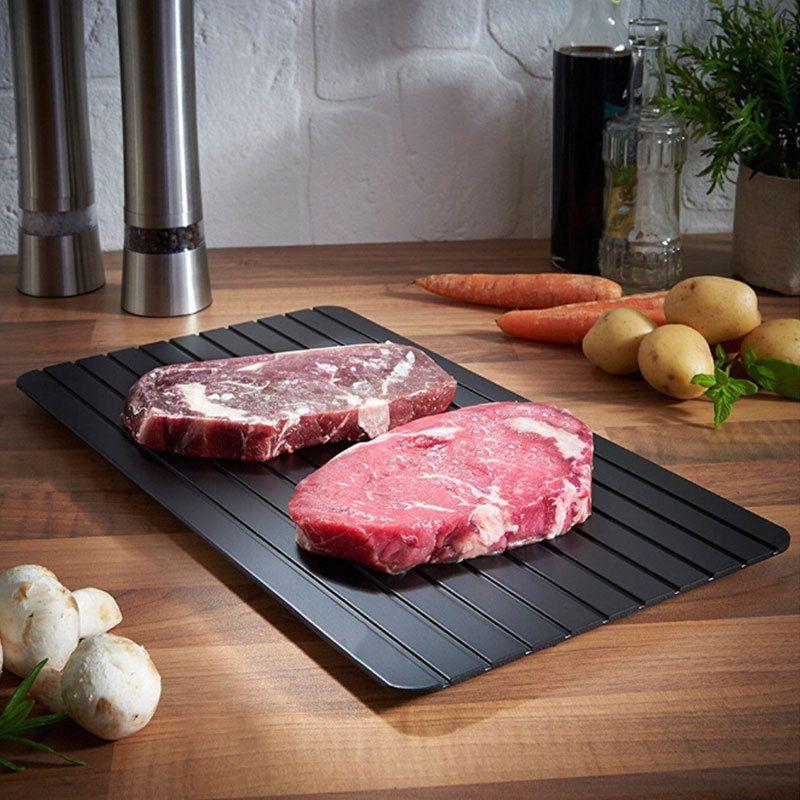 快速解冻板牛排快速解冻神器急速解冻盘砧板厨房海鲜化冰家用批发