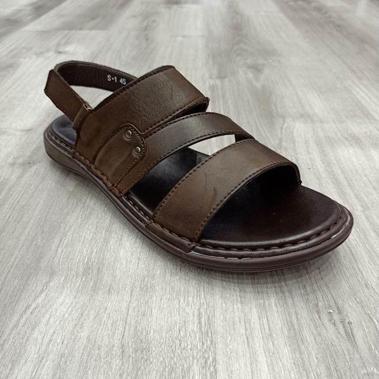 男士真皮经典透气防滑大底男凉鞋2020 new design men sandals