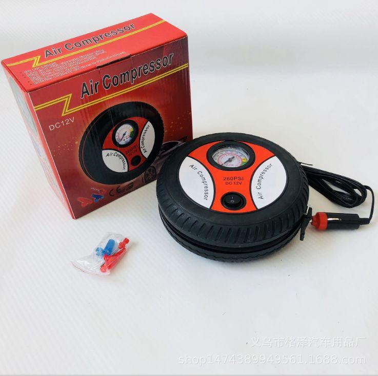 汽车用轮胎充气泵便携式 12v车载迷你轮胎自动打气泵 高压充气机