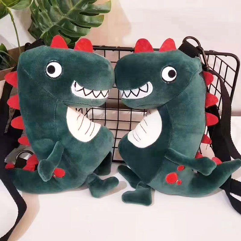 毛绒玩具包毛绒零钱包恐龙钱包零钱包独角兽刺绣钱包