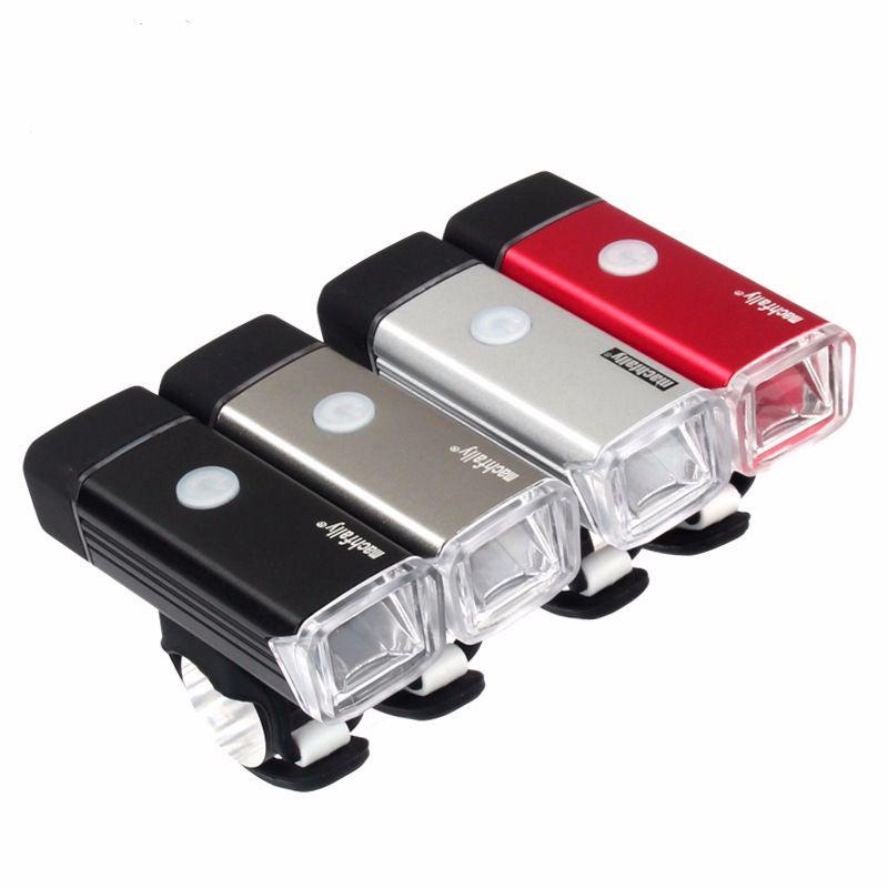 自行车前灯USB充电自行车灯 铝合金车夜骑手电筒 骑行装备配件