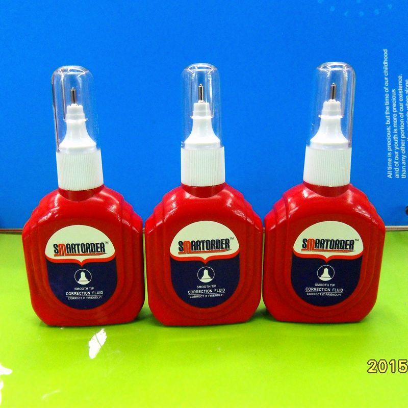 厂家直销 涂改液VP-810 瓶型修正液  环保无毒 大红瓶 钢针头 OEM