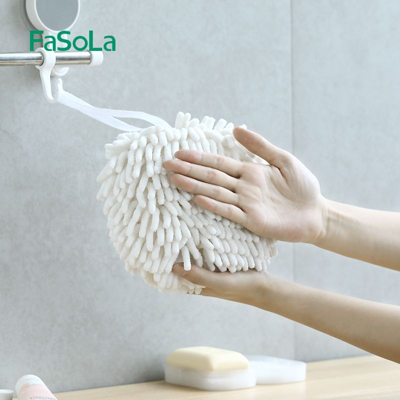 日式雪尼尔擦手球厨房不掉毛抹布浴室吸水擦手巾加厚清洁速干毛巾