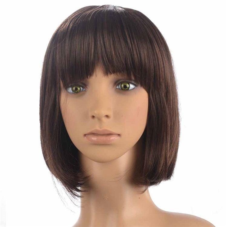欧美新款假发短发波波头化纤高温丝假发