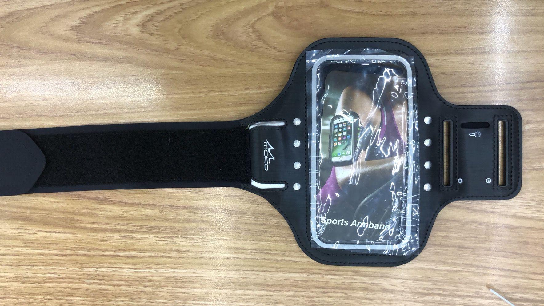自发电LED手机臂带,黑科技大屏幕手机臂带,运动手机臂包 手机袋