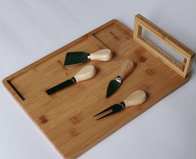 定做竹制奶酪板套装熟食拼盘肉板芝士菜板派对厨房用具菜板砧板
