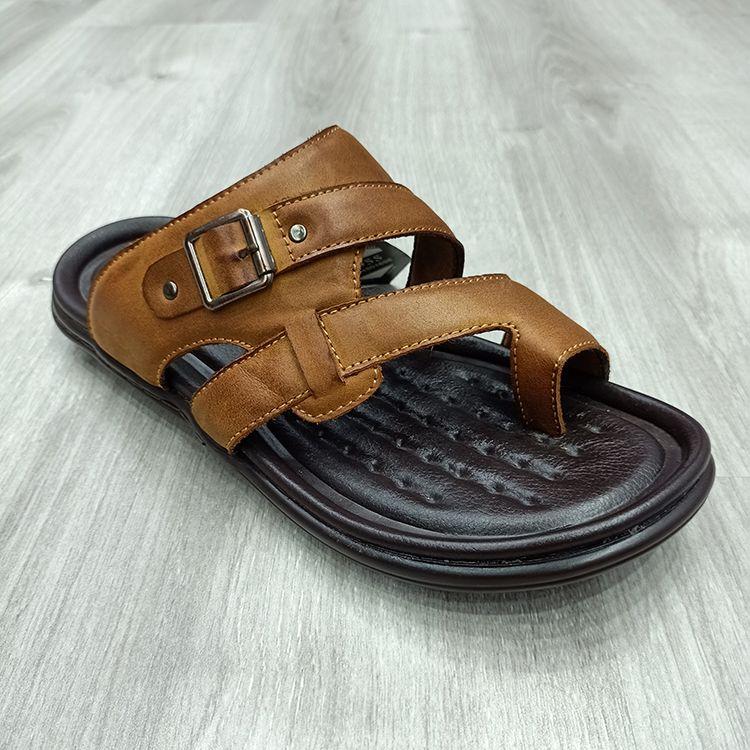 凉鞋男夏季新款男士真皮休闲沙滩鞋舒适透气genuine leather men