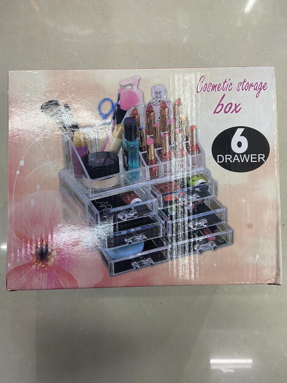 5格6格饰化妆盒化妆品收纳盒四抽屉式收纳盒透明塑料盒