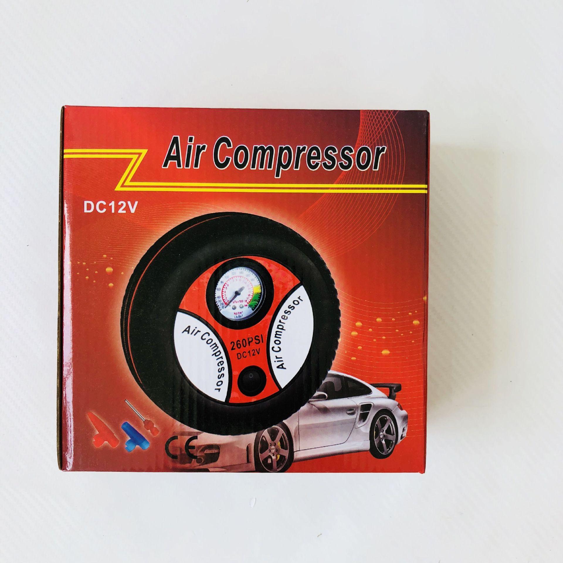 轮胎充气泵便携式 12v车载迷你轮胎自动打气泵大电机