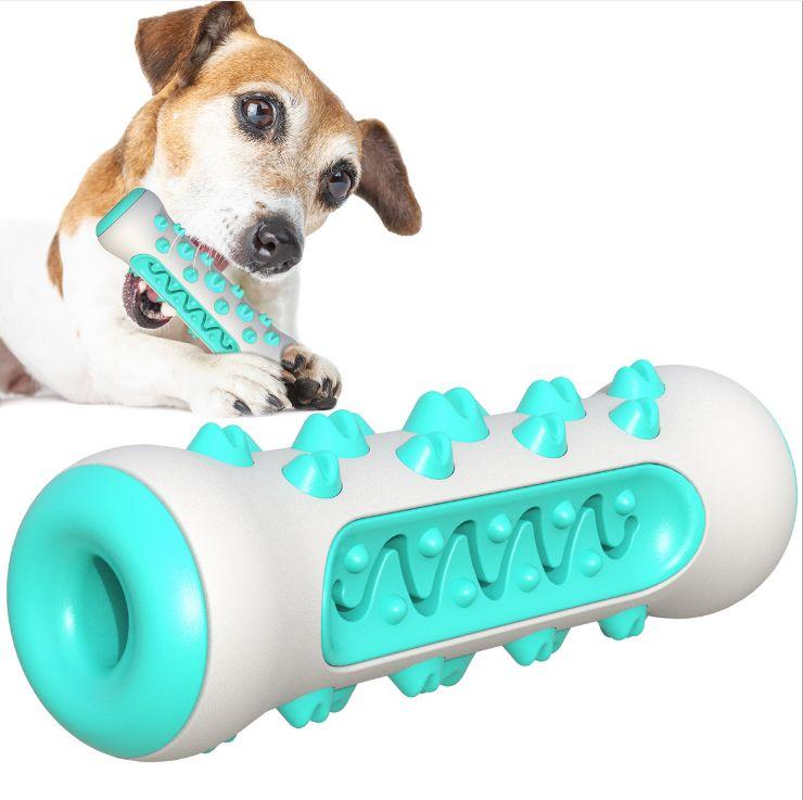 宠物玩具 耐啃咬清洁齿骨磨牙棒漏食狗狗玩具 TPR宠物牙刷