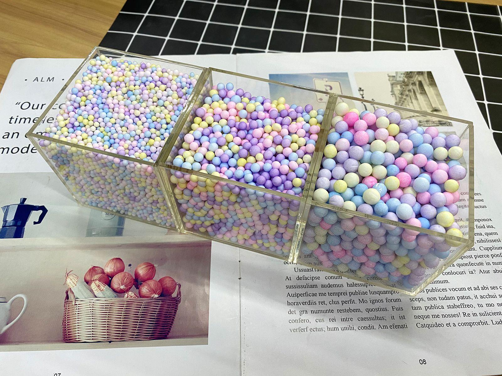 马卡龙泡沫球保丽龙玻璃瓶装饰手工材料