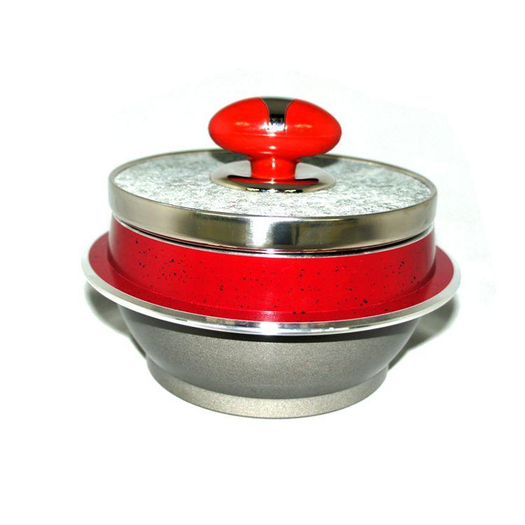韩国厨房密码原装进口  豪华 红色天然石锅13cm