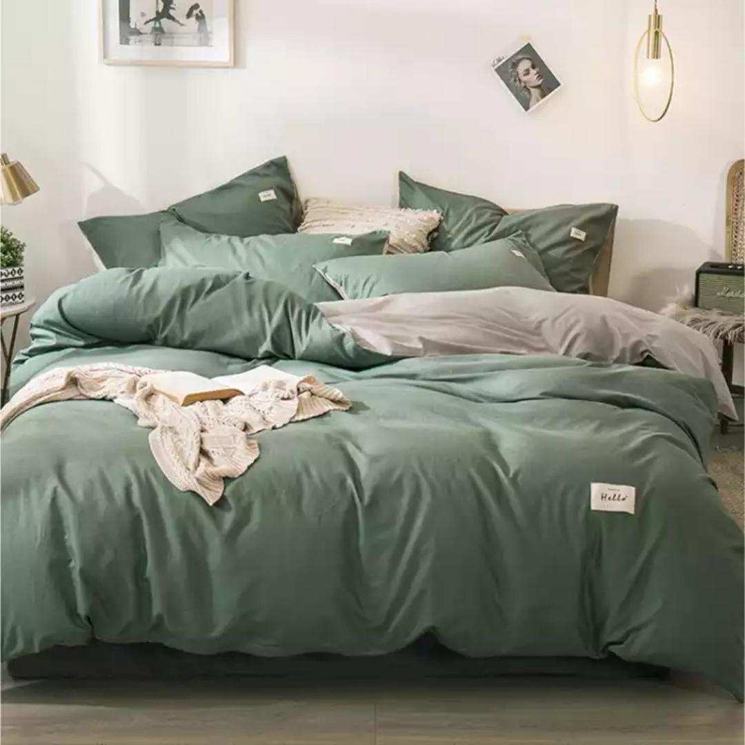 自由自在 全棉四件套 纯棉用品被套床单加枕套 樱花花开A黄色