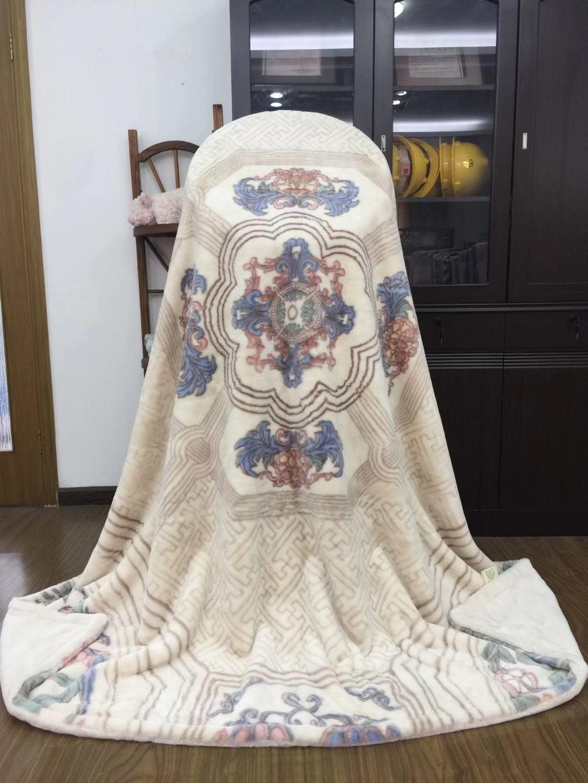 出口轻奢高端北欧仿兔毛绒毛毯双层午睡空调毯秋冬加厚盖毯 5