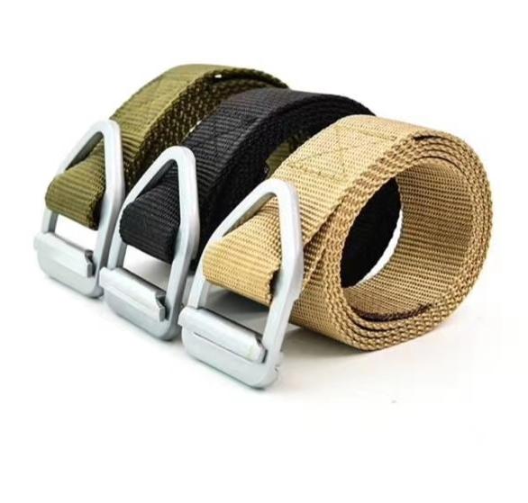 明星款金属扣眼睛蛇迷彩腰带纯尼龙编织插扣内腰带