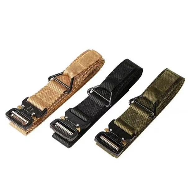 户外运动尼龙腰带,宽3.8cm,休闲战术军训腰带