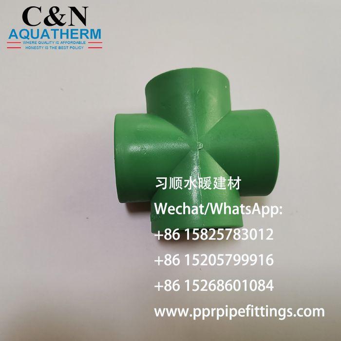 PPR四通 塑料管材管件 CROSS TEE 厂家直销 出口非洲