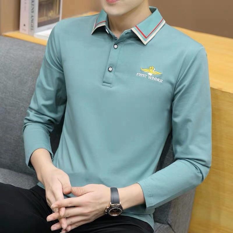 青少年时尚翻领长袖polo衫6620#。