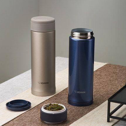 象印茶叶存储格不锈钢真空保温杯 SM-AXE50 办公室水杯 500ML
