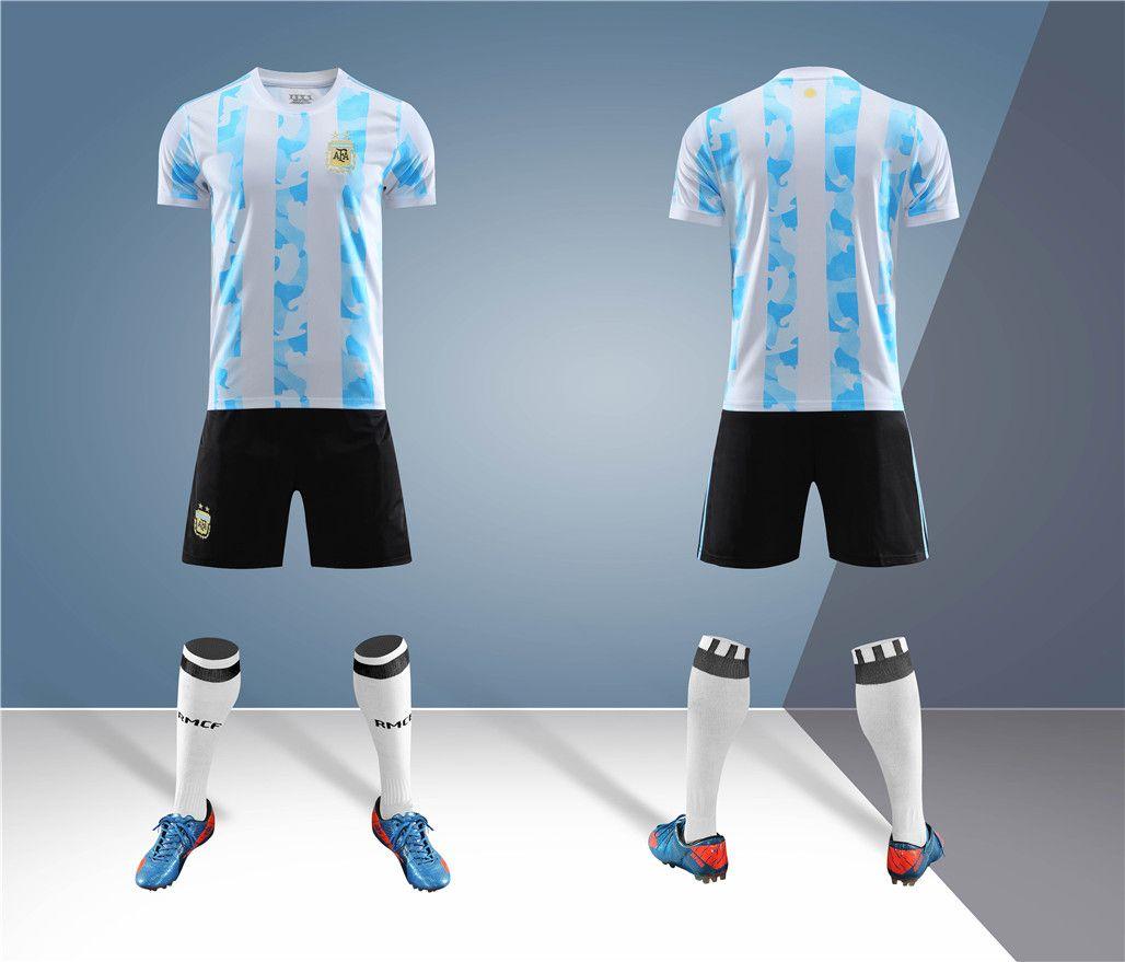20-21阿根廷球衣美洲杯国家队主场成人儿童定制10号梅西足球套装