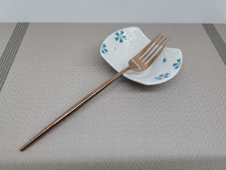 西餐餐具304不锈钢牛排刀叉勺三件套装 筷子甜品咖啡长柄勺水果叉