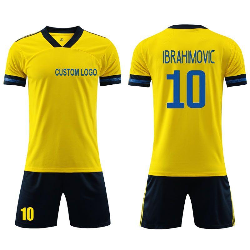 2021欧洲杯瑞典主场球衣黄色瑞典足球服