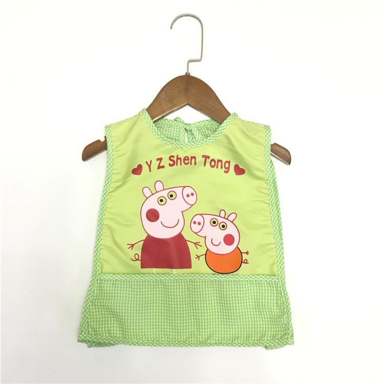 婴幼儿泡泡纱防水免洗围兜宝宝吃饭围裙多图多色