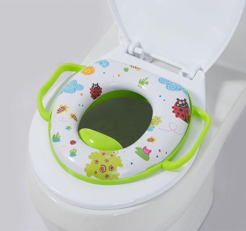 厂家直销带柄儿童马桶垫 PVC卡通印花婴幼儿坐便器海绵软垫