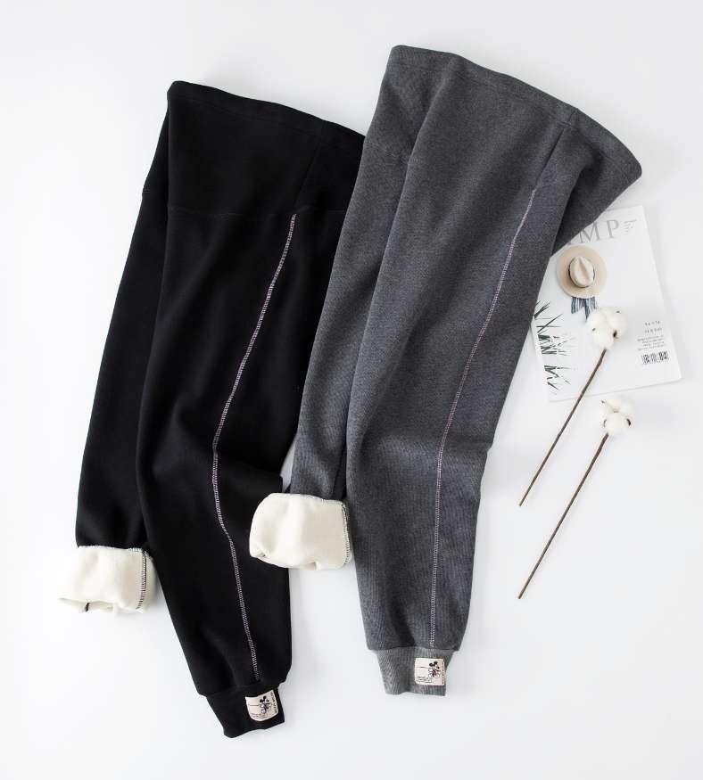 条纹棉加绒卫裤休闲款500克