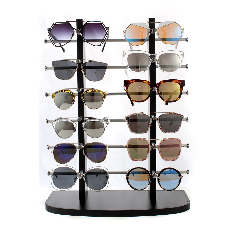 12付黑色太阳眼镜展示架B2020-2-12B