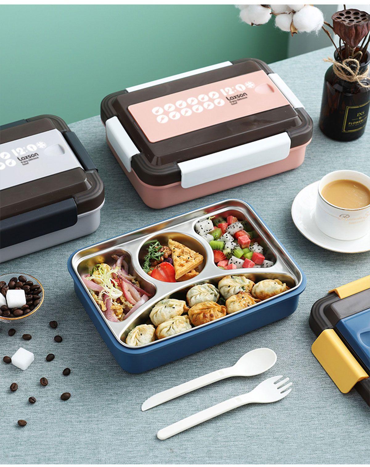 美雅304不锈钢饭(四格)便当盒 午餐盒 随手饭盒