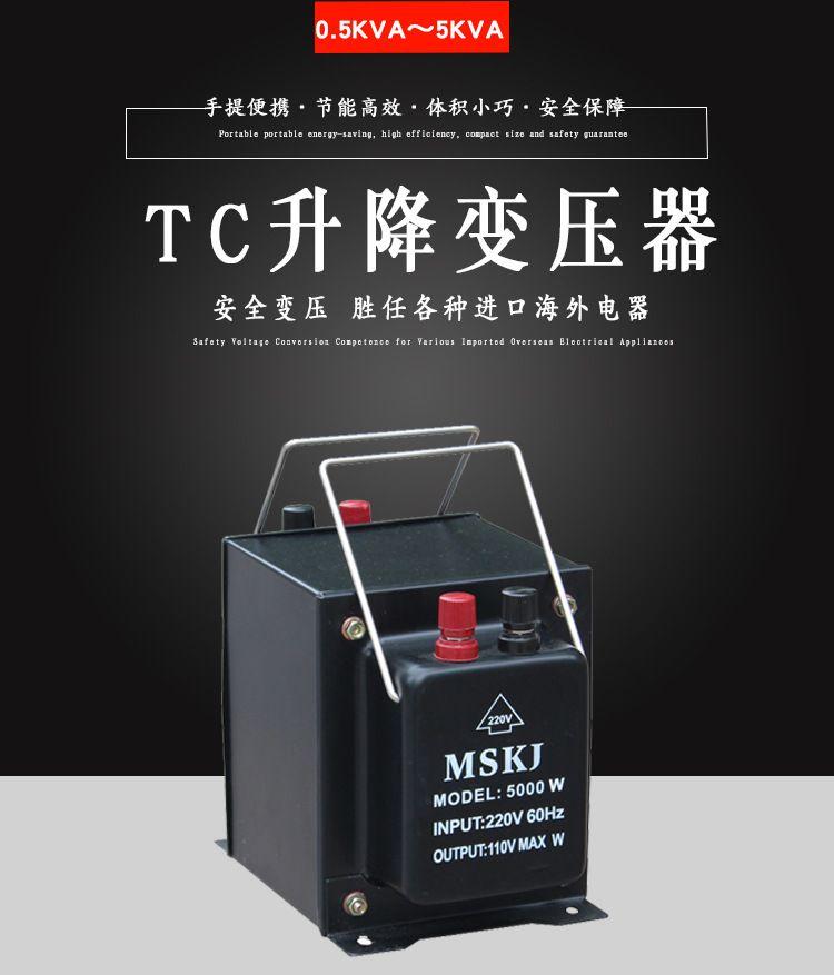升降变压器220v转110v电压转换插头单相交流变压器TC-500W