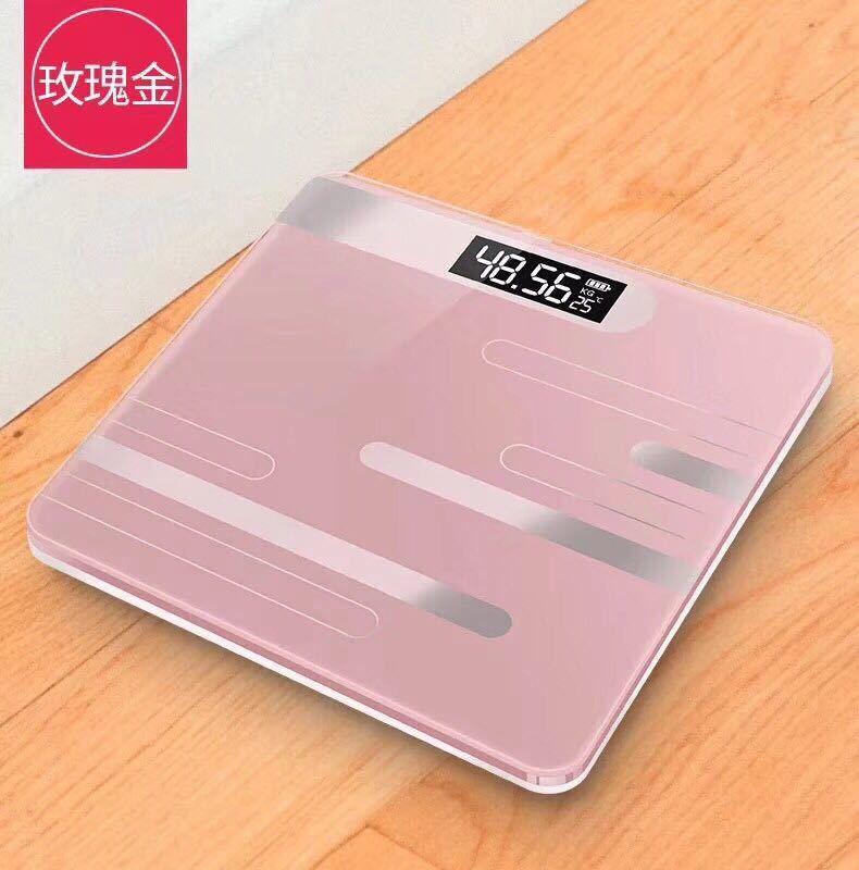 液晶大屏家用体重秤 背光显示电池容量、温度电子秤 新款健康秤