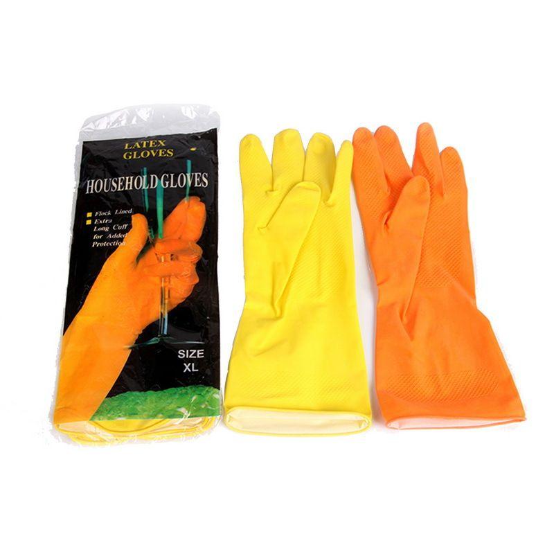 新款加厚天然乳胶手套 工业劳保家用橡胶手套 家居日用清洁手套