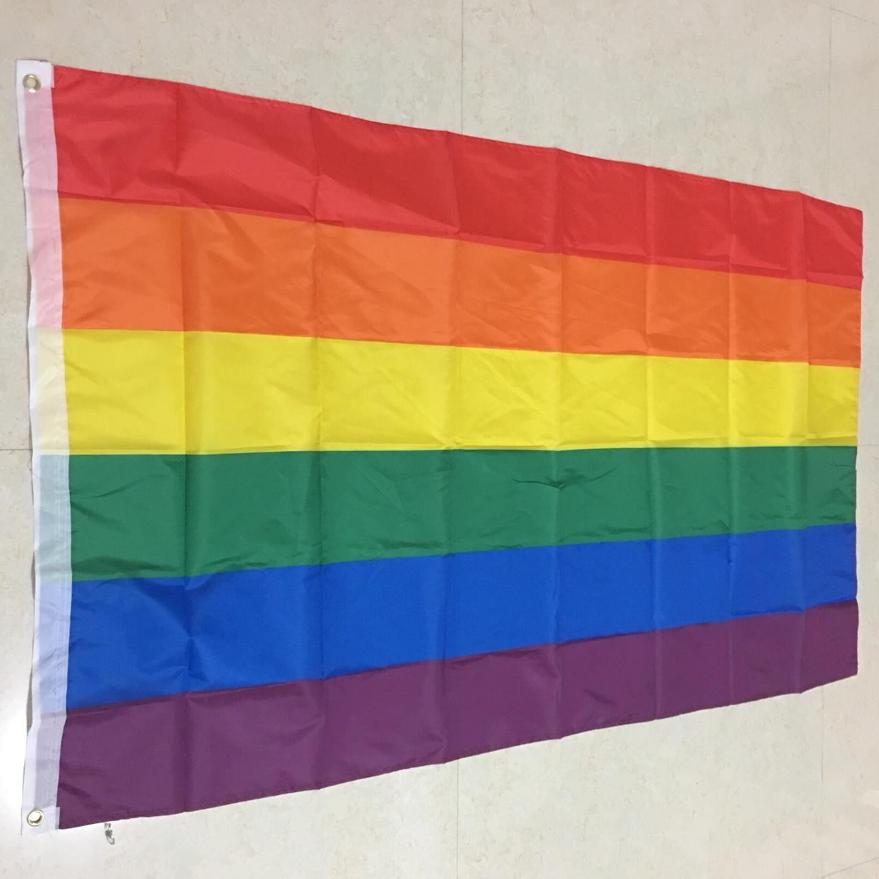 涤纶面料90×150cm同性恋彩虹旗