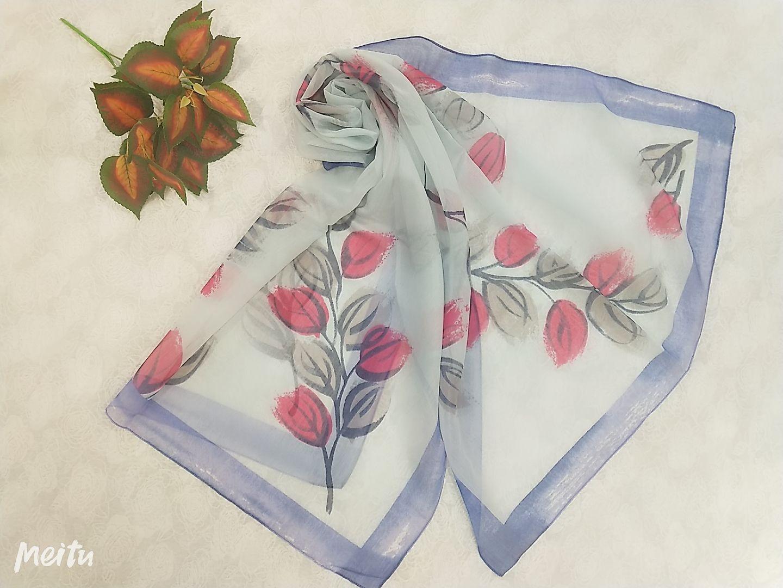 印花绣花围巾25