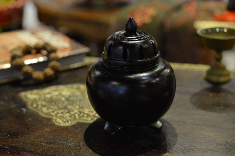 鸡翅木葫芦香炉(盘香、锥香两用)