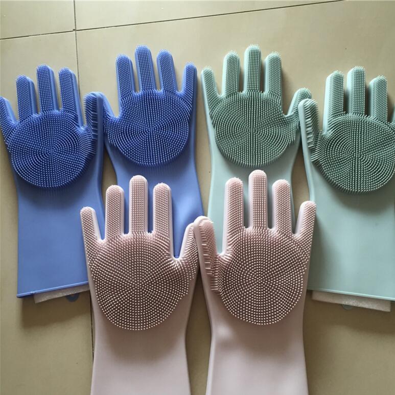 网红硅胶手套 洗碗刷 宠物毛刷手套清洁手套魔术硅胶手套