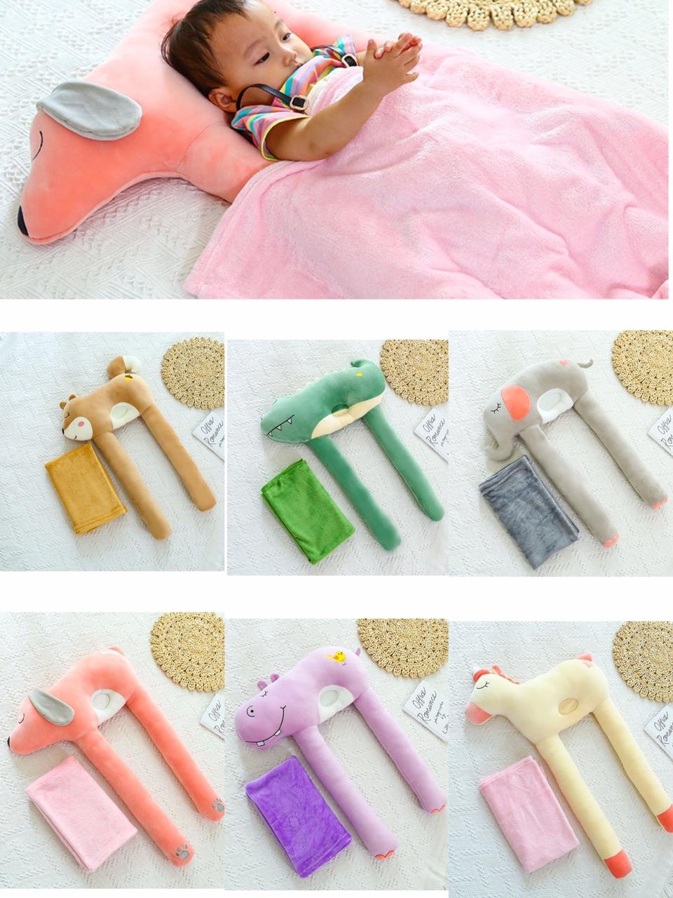 睡觉抱枕靠枕舒适孕妇儿童毯子一体毛绒玩具礼物玩偶动物厂家批发