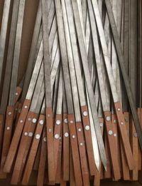 不锈钢烧烤签方木柄烧烤针烧烤签子方木柄签子不锈钢木柄扁签