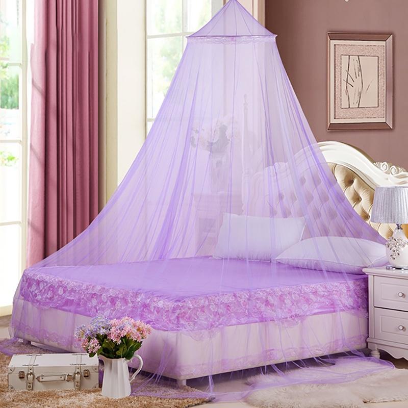 蚊帐家用0.9米宽的床[圆顶0.6米]通用夏天加密吊顶圆顶落地蚊帐