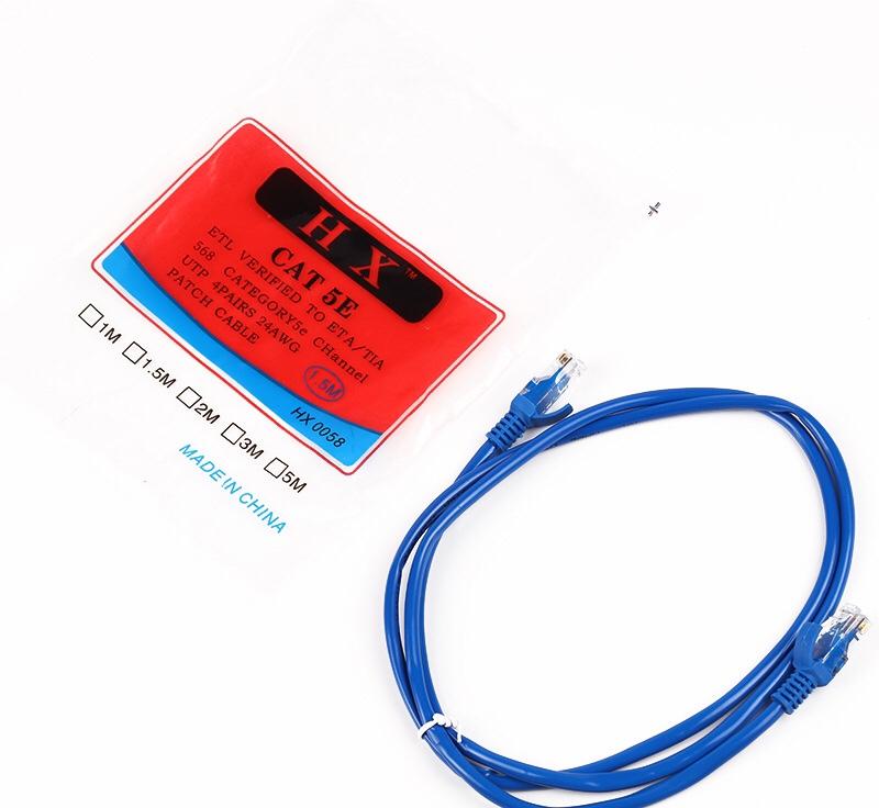 厂家直销成品1米跳线,网络连接线,超五类网线无氧铜网络线可定制,网线六类网线跳线,电脑线网络线,米数长短均可定做