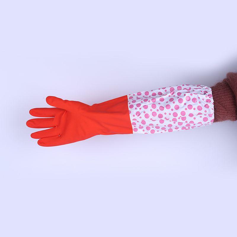 冬季加绒加厚洗碗手套保暖防水橡胶皮乳胶厨房清洁洗衣服刷碗家务
