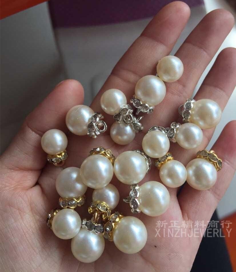 手缝仿珍珠挂件吊坠拉链头吊钟 服装diy辅料配件饰品