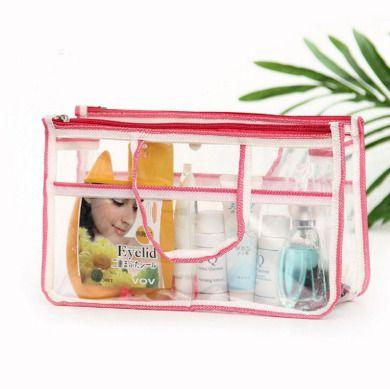 洗浴包旅行洗漱包男女防水化妆包洗漱袋包中包PVC韩国折叠收纳包