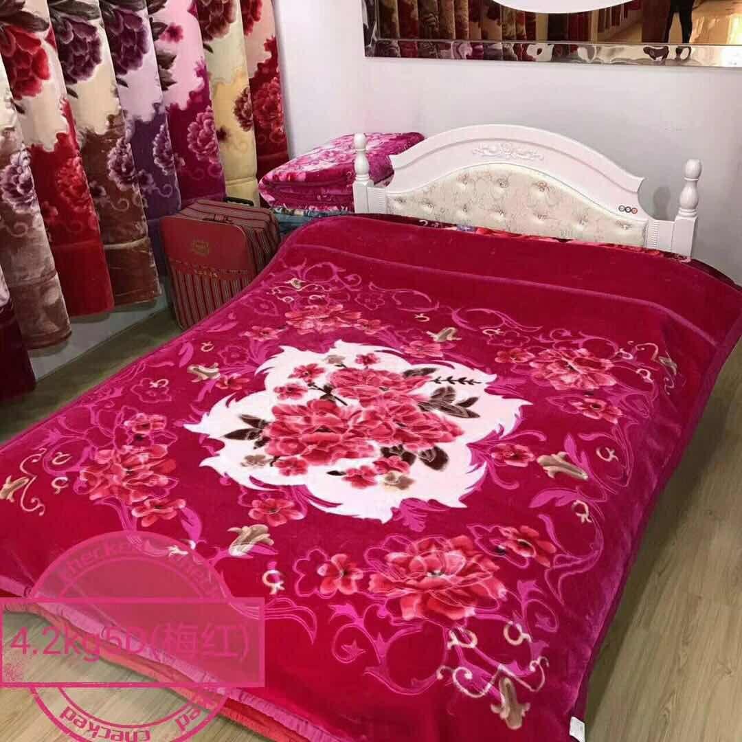 厂家批发外贸毛毯绒毯法兰绒珊瑚绒拉舍尔毛毯尺寸可定制花色53