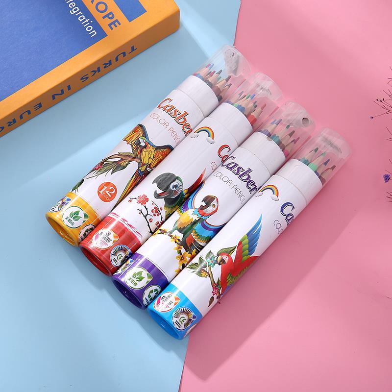 彩色绘画铅笔12色幼儿园儿童涂鸦笔套装