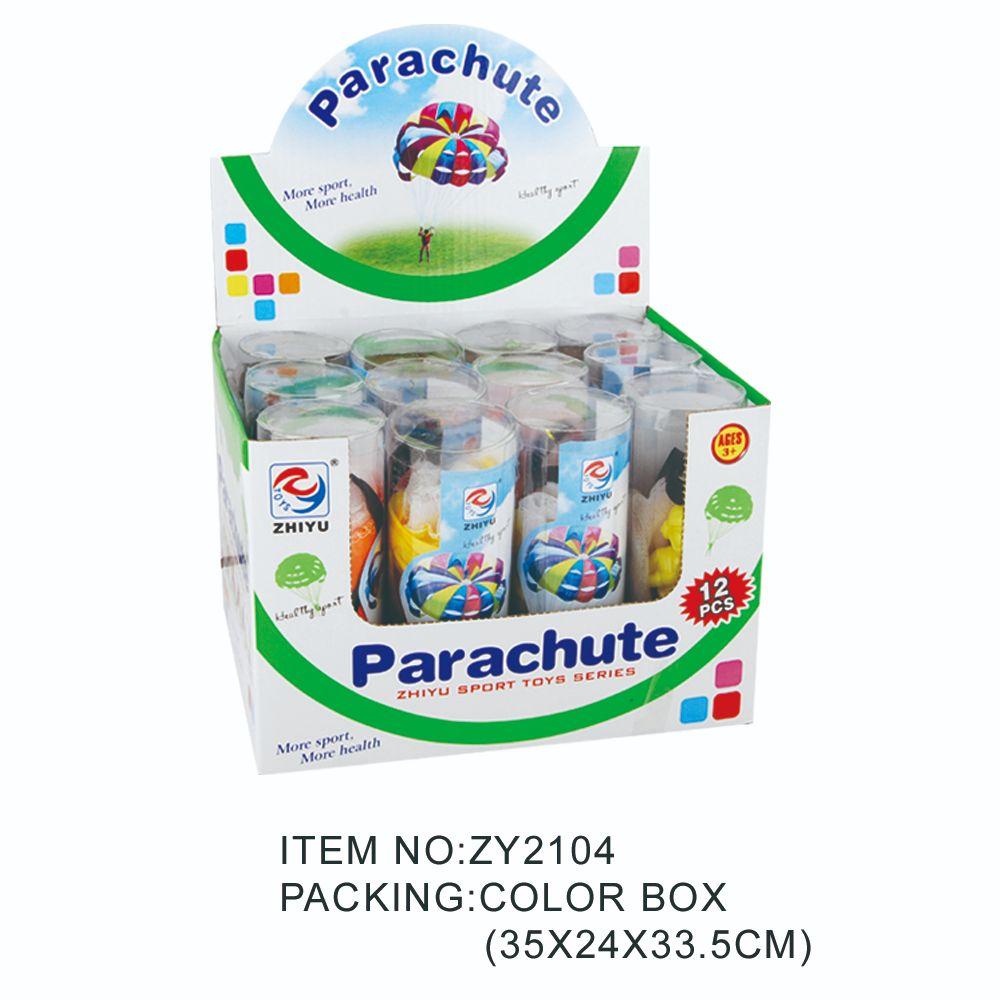 儿童体育降落伞、降落伞PVC筒(展示盒)ZY2104